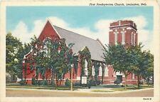 Lexington Nebraska~Presbyterian Church~1947 Linen Postcard