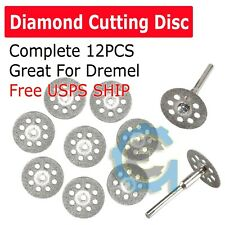 12PCS Diamond Cutting Wheels For Dremel Rotary Tool Cut Off Disc Saw Blades Set