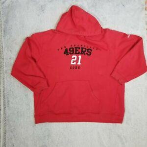 Reebok NFL San Francisco SF 49ers Frank Gore Hoodie Hooded Sweatshirt XL