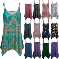 Boho Women Ladies Cami Vest Swing Camisole Sleeveless Strap Tank Tops Blouse