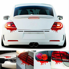 2x Horror Bloody Zombie Red Blood Drip Car Vehicle Bleeding Window Decal Sticker