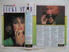 Madonna Lucky Star Prince clippings cuttings UK Frankie Goes To Hollywood POSTER
