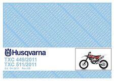 Husqvarna Parts Manual Book 2011 TXC 449 & TXC 511