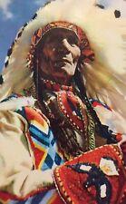 Postcard, 1953 Chief Sitting Eagle Banff Alberta Canada, Vintage P23