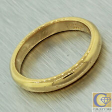 Tiffany and Co Vintage Estate 22k Solid Yellow Engraved Wedding Band Ring