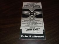 OCTOBER 1958 ERIE RAILROAD FORM 7 MAIN LINE NEWARK BRANCH PUBLIC TIMETABLE