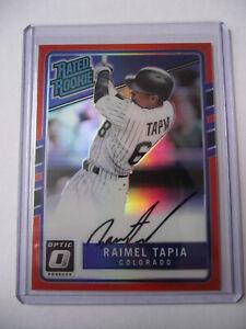 2017 Panini Donruss - Optic Rated Rookies Raimel Tapia Autograph Card 61/99
