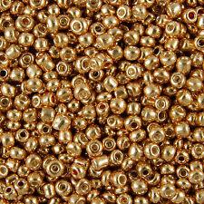 1kg bronzo metallico Rotondo Foro glass seed beads Size 6/0 4mm