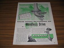 1947 Print Ad Evinrude Outboard Motors with Weedless Drive Milwaukee,WI