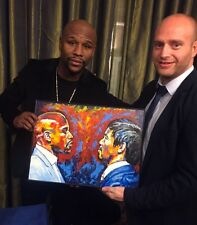 Boxing Mayweather v Pacquiao Edition of 150 ~ Original Presented to Mayweather