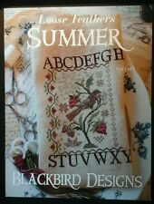 "OOP Blackbird Designs Loose Feathers ""SUMMER"" Cross Stitch Pattern/Part 1 0f 3"
