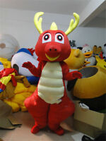 Xmas Belly Dinosaur Mascot Dragon Animal Costume Party Adult Cosplay Dress Suits