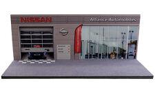 Diorama présentoir garage Nissan Alliance Automobiles - 1/43ème - #43-2-D-D-015