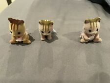 Epoch Calico Critters / Sylvanian Families Lot of 3 figures: 1985 , beavers