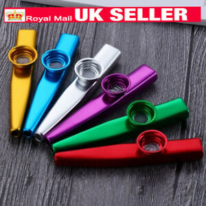 Metal Kazoos Beginner Flute Woodwind Instruments Musical Toys for Kids Gift