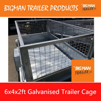 New Trailer Mesh Cage Galvanised Heavy Duty 6x4x3ft