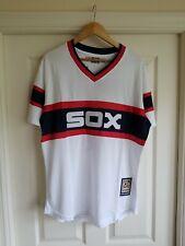 NWT Retro Chicago White Sox FRANK THOMAS WHITE Majestic Baseball Jersey MEDIUM