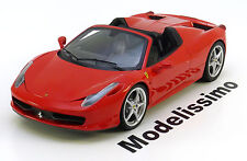 1:18 Hot Wheels Elite Ferrari 458 Italia Spider 2011 red