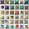 Vintage Flower Cotton Linen Pillow Case Sofa Car Throw Cushion Cover Home Decor
