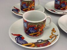 Cuban Espresso coffee cup set. 12 pc cup and saucer set. Beautiful Rooster