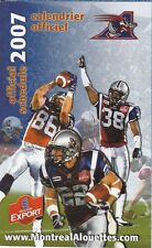 2007 MONTREAL ALOUETTES CFL FOOTBALL SCHEDULE -  FRENCH  AND ENGLISH