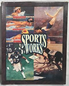 "Vintage SPORTSWORKS Educational Software 3.5"" Disks Diskettes MS-DOS Boxed"