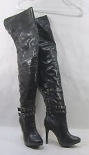 """new Blacks 4.5""""high heel round toe over the knee sexy  boots Size  5.5   p"""