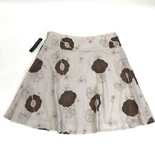 NWT Tribal Womens Skirt Brown or beige knee length with flowers Size 14 MSRP $59