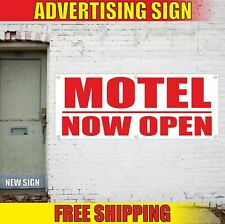 Motel Now Open Advertising Banner Vinyl Mesh Decal Sign hotel guest house hostel