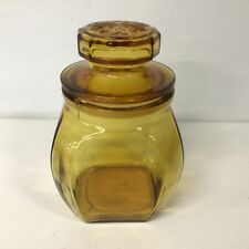 Amber Glass Jar With Sealed Stopper #310