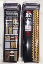 Oxo Pop Contenitore per Spaghetti, Plastica, Trasparente, 10x10x33 cm (0FY)