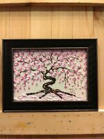 Cherry Blossom Original Impasto Oil Textured painting Floral still life 02-42