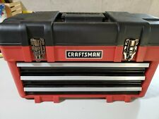 CRAFTSMAN Portable Tool Box. 3 drawers filled with tools and locking feature.