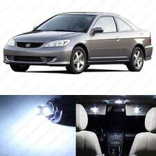 6 x White LED Lights Interior Package Deal Honda CIVIC Coupe & Sedan 2001-2005