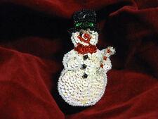 CHRISTMAS SNOWMAN SEQUIN BEADED APPLIQUE 0811-J