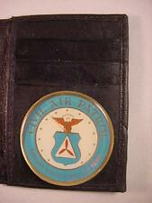 CAP CIVIL AIR PATROL  BLACK LEATHER BIFOLD CREDIT CARD WALLET ID NEW