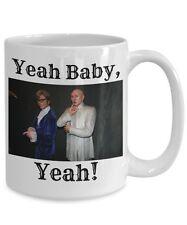 Mike Meyers Mug, Yeah Baby Yeah, 15oz White Ceramic Austin Powers Coffee Tea Cup