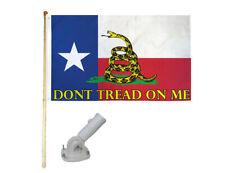 New listing 5' Wooden Flag Pole Kit W/ Nylon White Bracket 3x5 Texas Gadsden Polyester Flag