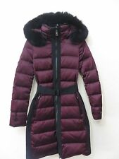 Women's Burberry London Puffer Coat/Jacket  Color Deep Claret US 02 100% Fox Fur