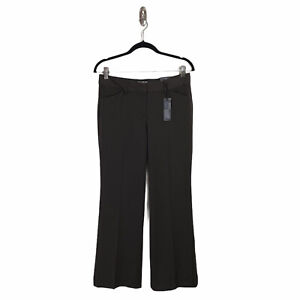 Express Women's Editor Pants Low Rise Flare Career Chocolate Brown NWT Size 4S