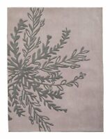 120 x 160 Home Sutton Artisan Rug 120 x 160cm Neutral Grey Carpet Runner Leaf