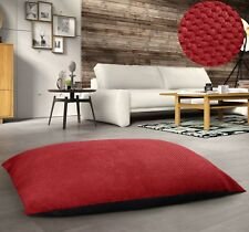 EXTRA LARGE FLOOR MULTI PURPOSE JACQUARD SUEDE CORDUROY CUSHION SOFT ANTI SLIP