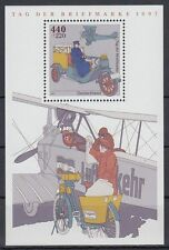 Germany federal BRD 1997 ** bl.41 avión Airplane post auto mail Lorry