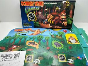 DONKEY KONG COUNTRY POG PITCHIN' GAME (Milton Bradley) 1995 Nintendo *No Pogs