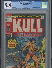 Kull the Conqueror #1. 9.4  CGC Marvel Bronze Age set