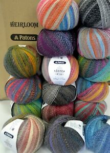 PATONS SIERRA 8 ply - 16 COLOURS AVAIL - 150gm ball 20% Wool, 80% Acrylic