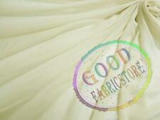 W White Grey Poly Thick *120D Chiffon Mesh Curtain Wedding Dress Fabric Material