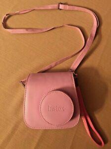 Polaroid Fujifilm Instax Mini 9 Instant Film Camera Flamingo Pink W/ Case