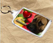 Bullmastiff Keyring Dog Key Ring 77x45mm Birthday Gift Stocking Filler Xmas