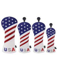 Golf Club Head Cover Cover Easy ON&Off American Flag Driver Fairway UT Headcover